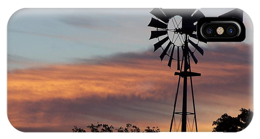 Windmill IPhone Case featuring the photograph Texas Sunrise by Gale Cochran-Smith