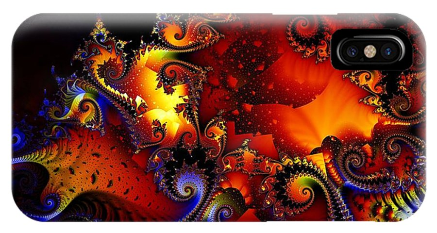 Jackolantern IPhone X Case featuring the digital art Texture Of Jackolantern by Ron Bissett