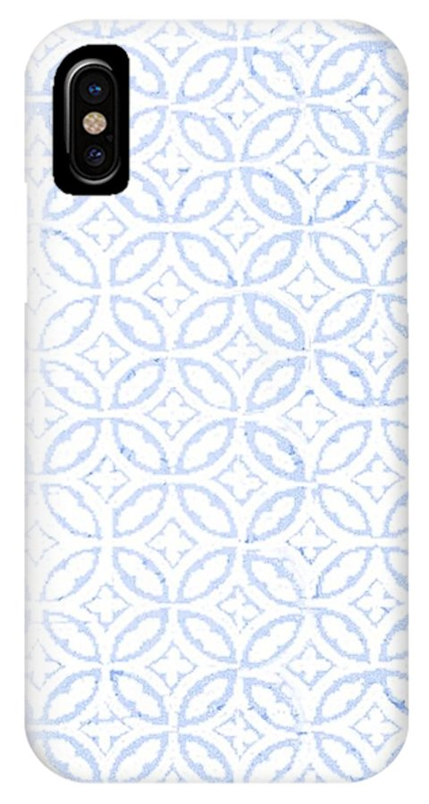 Celtic IPhone X Case featuring the photograph Textured Blue Diamond And Oval Pattern by Gillham Studios