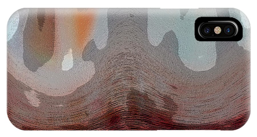 Abstracts IPhone X Case featuring the digital art Textured Waves by Linda Sannuti