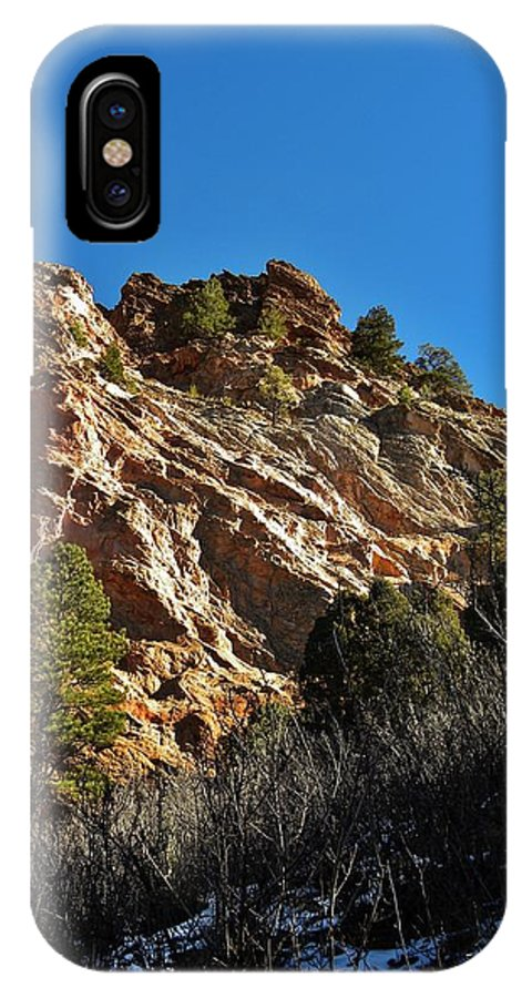 Colorado IPhone X Case featuring the photograph Textures Of Light by CL Redding