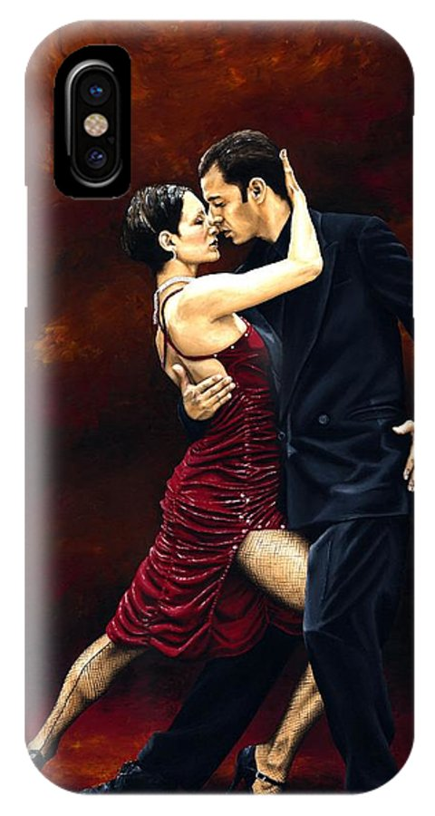 Tango IPhone X Case featuring the painting That Tango Moment by Richard Young