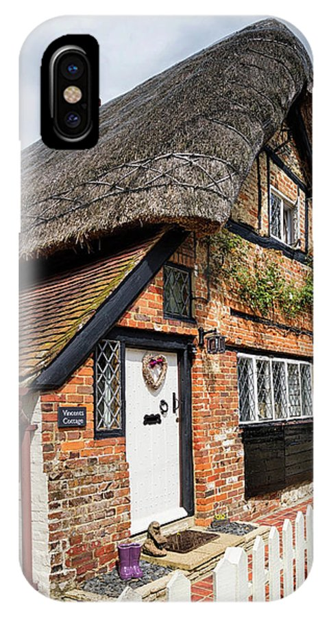 Cottage IPhone X Case featuring the photograph Thatched Cottages In Chawton 4 by Shirley Mitchell