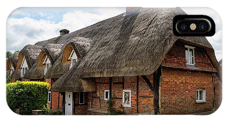 Cottage IPhone X Case featuring the photograph Thatched Cottages In Chawton by Shirley Mitchell