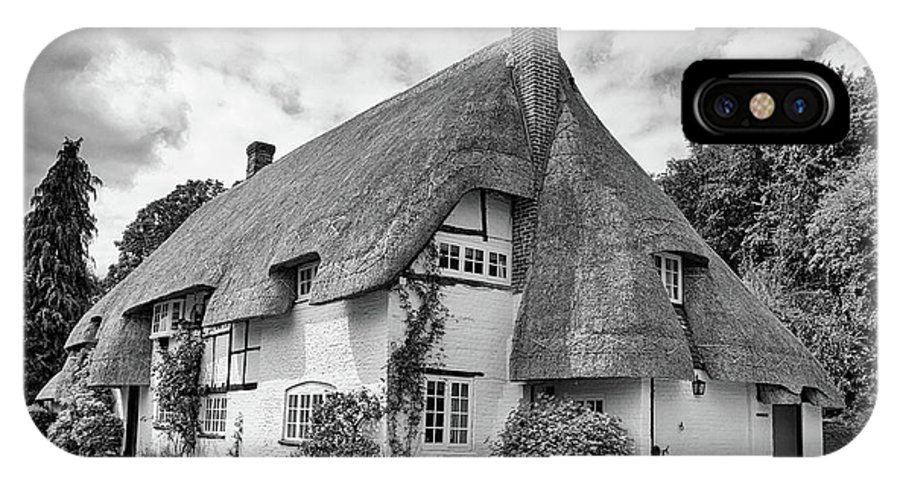 Cottage IPhone X Case featuring the photograph Thatched Cottages Of Hampshire 17 by Shirley Mitchell