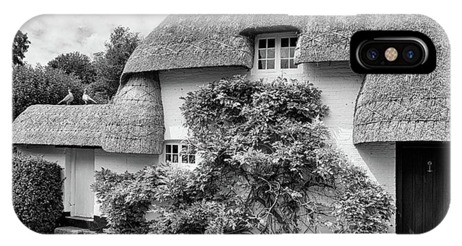 Cottage IPhone X Case featuring the photograph Thatched Cottages Of Hampshire 20 by Shirley Mitchell