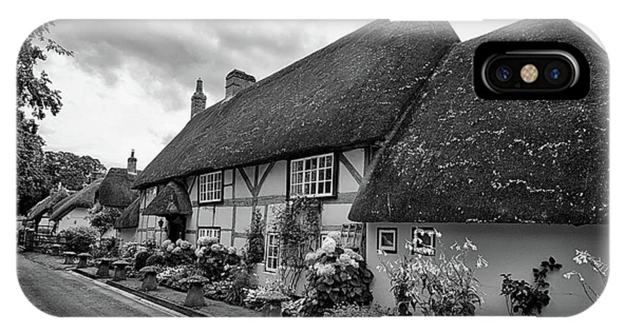 Cottage IPhone X Case featuring the photograph Thatched Cottages Of Hampshire 22 by Shirley Mitchell