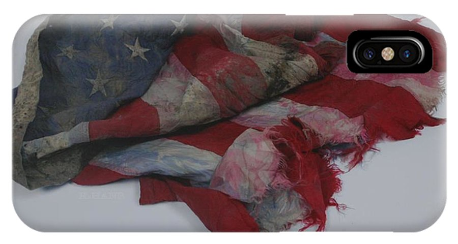 911 IPhone Case featuring the photograph The 9 11 W T C Fallen Heros American Flag by Rob Hans