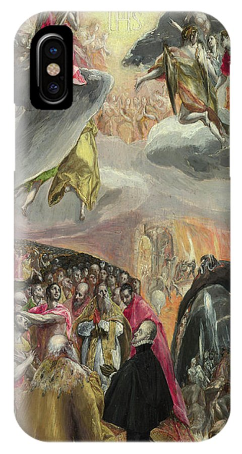 Catholic IPhone X Case featuring the painting The Adoration Of The Name Of Jesus by El Greco