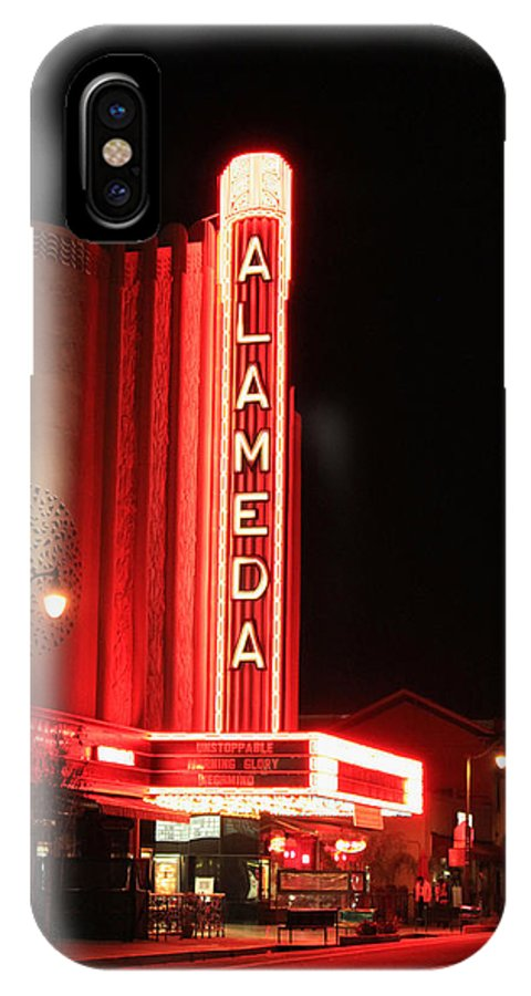 The Alameda Theatre IPhone X Case featuring the photograph The Alameda Theatre by Suzanne Gaff