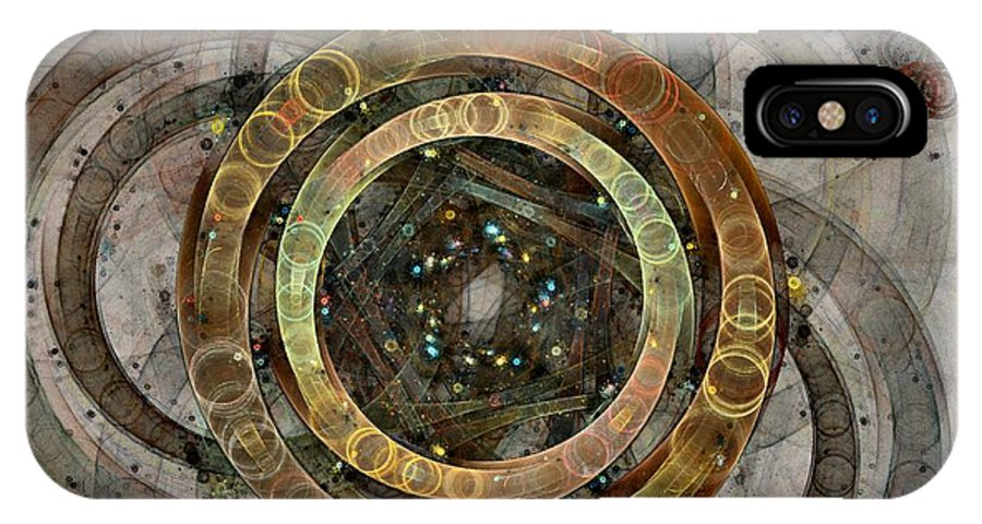 Circles IPhone Case featuring the digital art The Almagest - Homage To Ptolemy - Fractal Art by NirvanaBlues