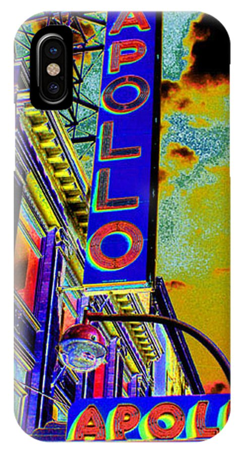 Harlem IPhone X Case featuring the photograph The Apollo by Steven Huszar