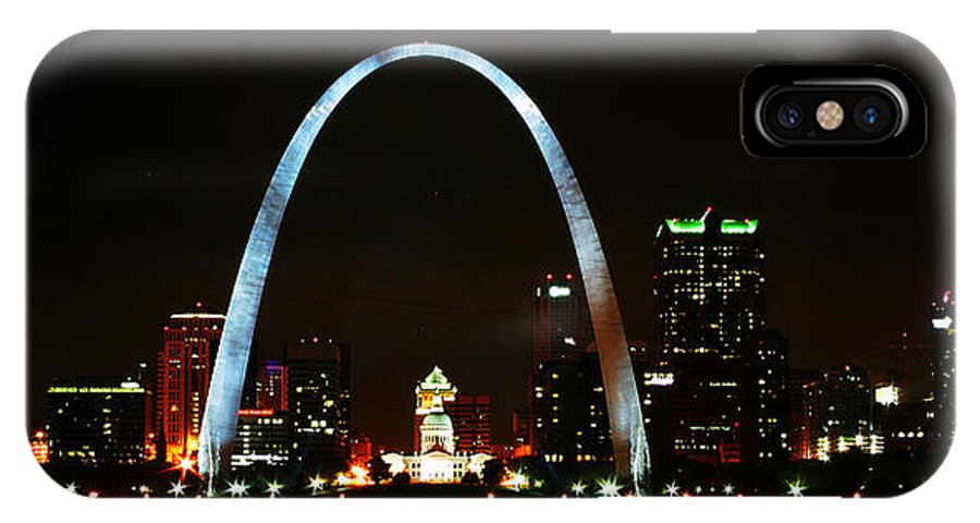 St Louis IPhone X Case featuring the photograph The Arch by Anthony Jones