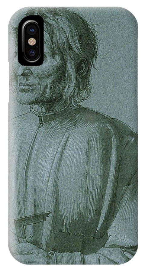 Albrecht Durer IPhone X Case featuring the drawing The Architect Hieronymus Von Augsburg by Albrecht Durer