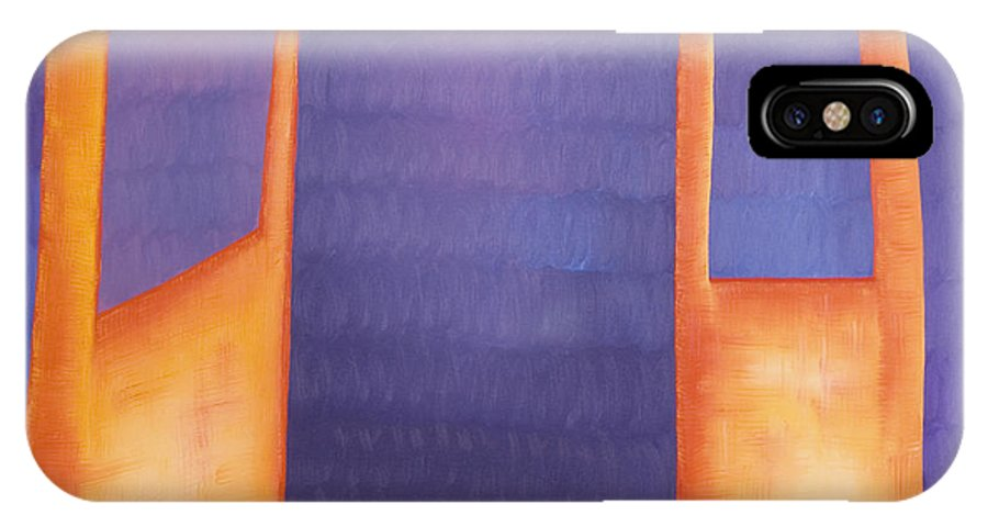 Death IPhone Case featuring the painting The Arrival by Judy Henninger