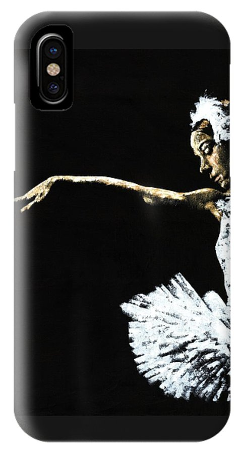 Ballet IPhone X Case featuring the painting The Art of Grace by Richard Young