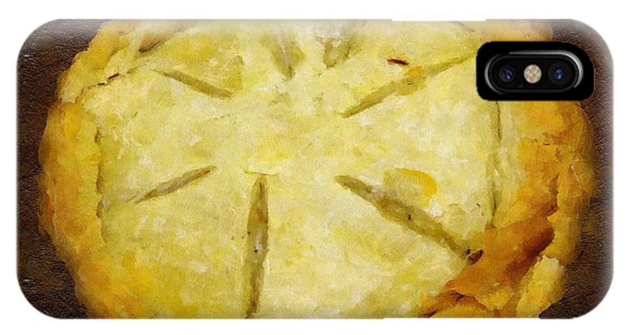 Pie IPhone X Case featuring the painting The Art Of The Pie by RC DeWinter