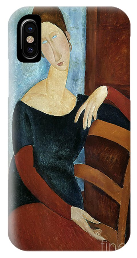 The IPhone X Case featuring the painting The Artist's Wife by Amedeo Modigliani