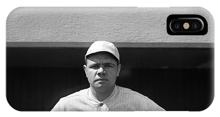 babe Ruth IPhone X Case featuring the photograph The Babe - Red Sox by International Images