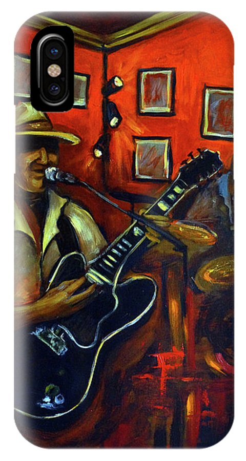 Blues IPhone Case featuring the painting The Back Room by Valerie Vescovi