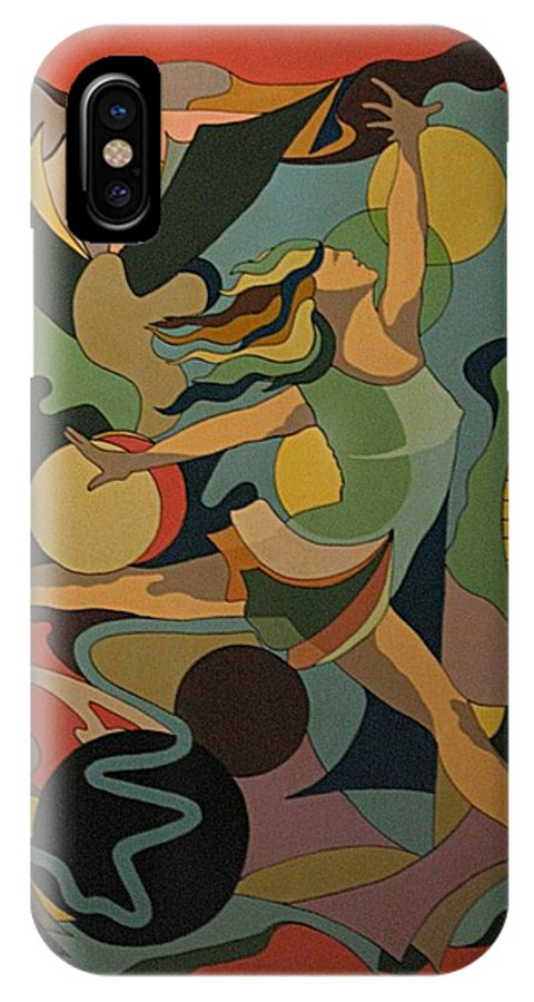 Abstract IPhone Case featuring the painting The Ballet Dancer by Vasilis Bottas