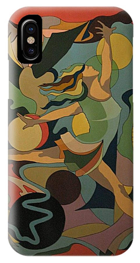 Abstract IPhone X Case featuring the painting The Ballet Dancer by Vasilis Bottas