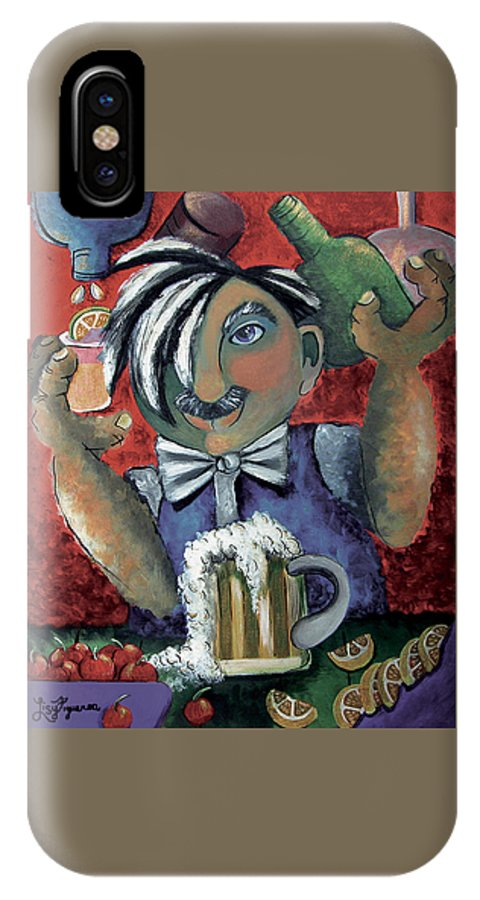 Bartender IPhone Case featuring the painting The Bartender by Elizabeth Lisy Figueroa