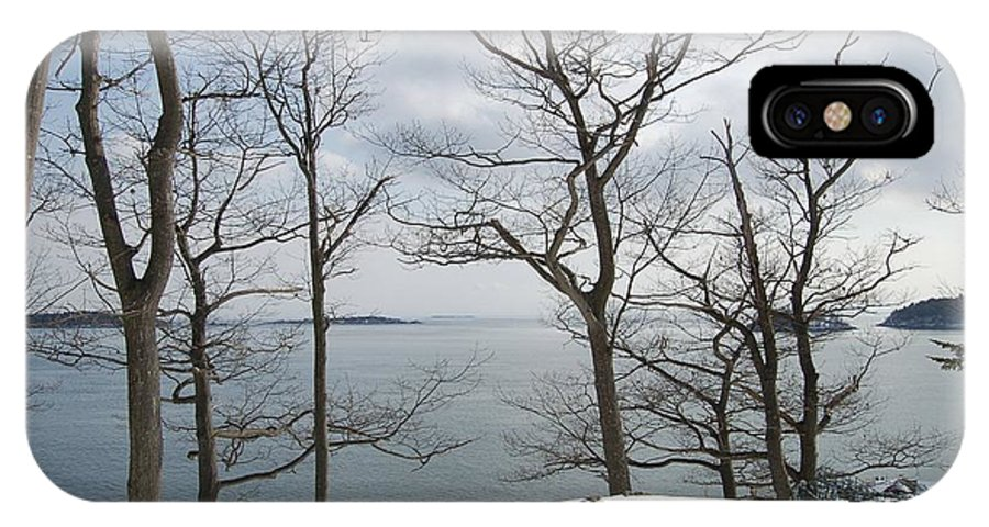 Water IPhone X Case featuring the photograph The Bay In Winter by Faith Harron Boudreau