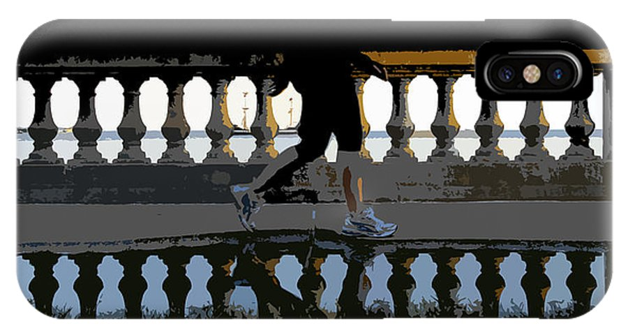 Bayshore Boulevard IPhone X Case featuring the painting The Bayshore Runner by David Lee Thompson