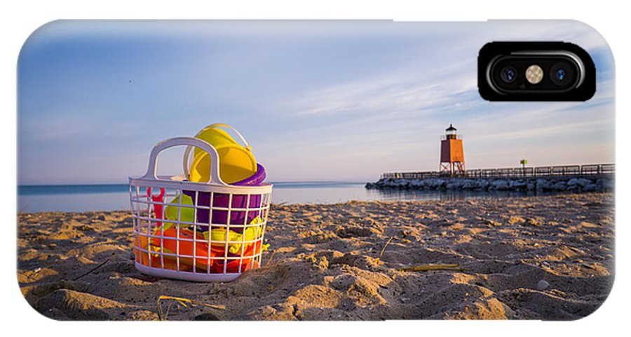 Charlevoix IPhone X Case featuring the photograph The Beach Is Calling by LuAnn Griffin