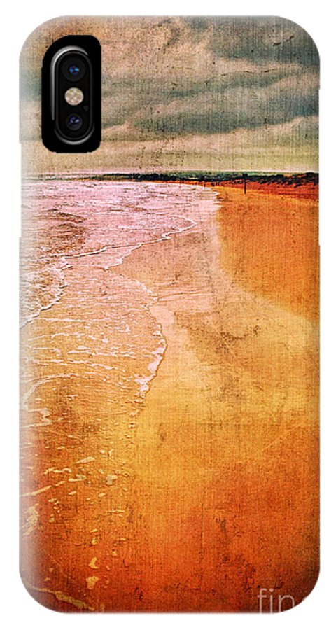 Waves IPhone X Case featuring the photograph The Beach by Silvia Ganora