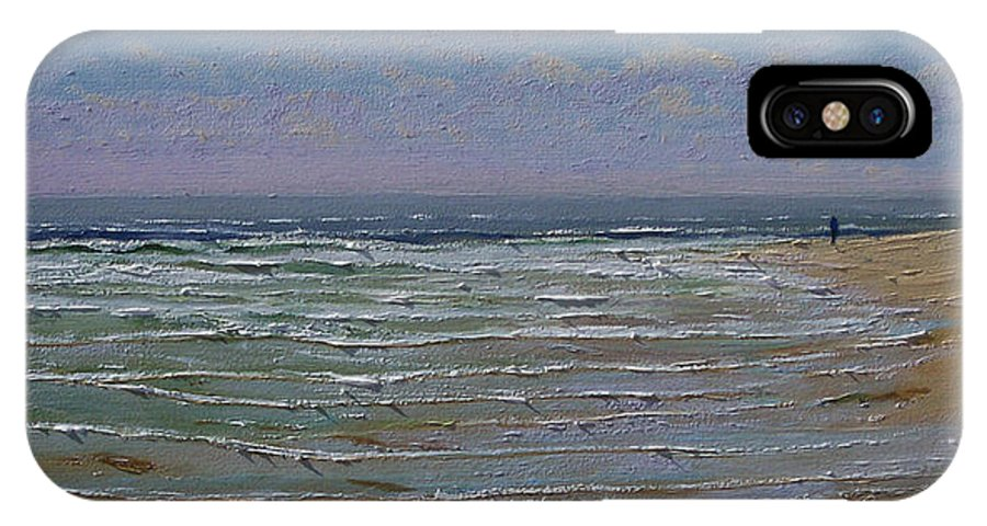 Seascape IPhone X Case featuring the painting The Beachcomber by Frank Wilson