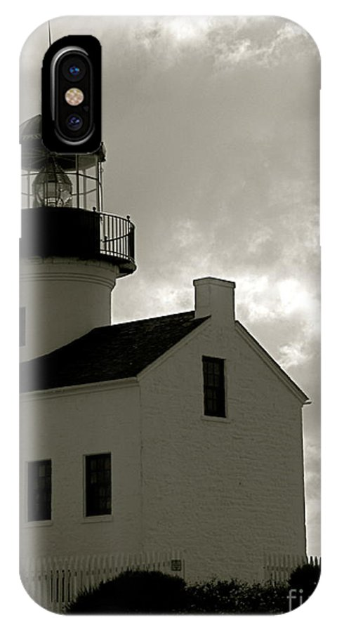 Lighthouse IPhone X Case featuring the photograph The Beacon by Amy Strong