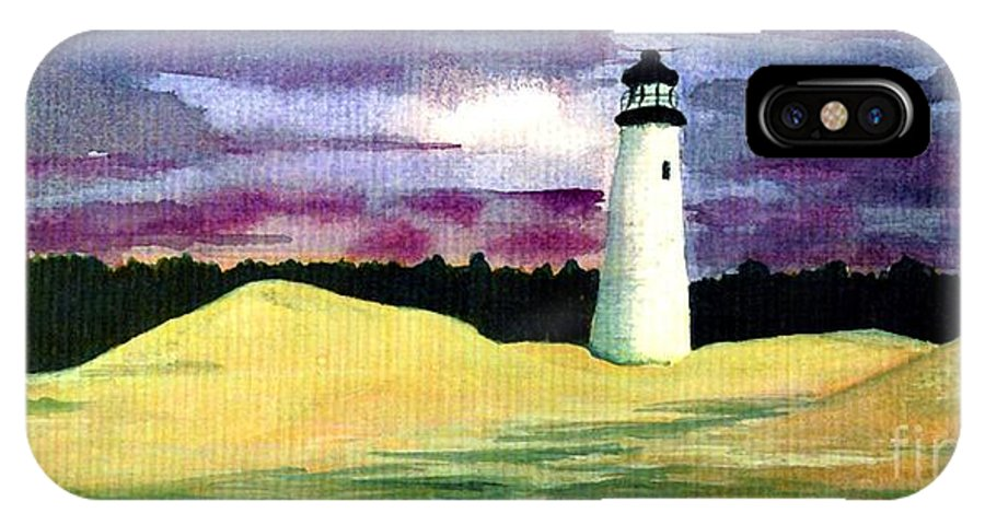Fine Art IPhone X / XS Case featuring the painting The Beacon by Patricia Griffin Brett
