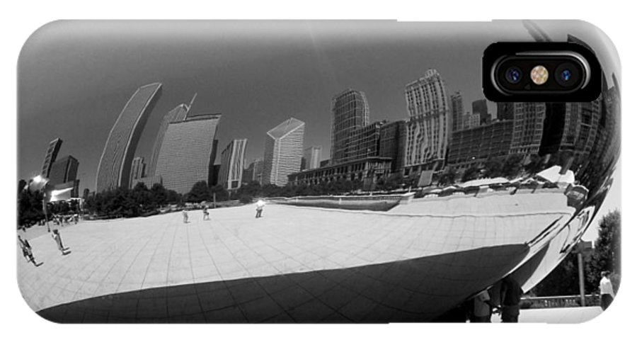 Chicago IPhone X Case featuring the photograph The Bean B-w by Anita Burgermeister