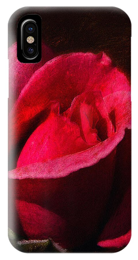 Rose IPhone X Case featuring the digital art The Beauty In The Garden Of The Neighbor by Max Steinwald