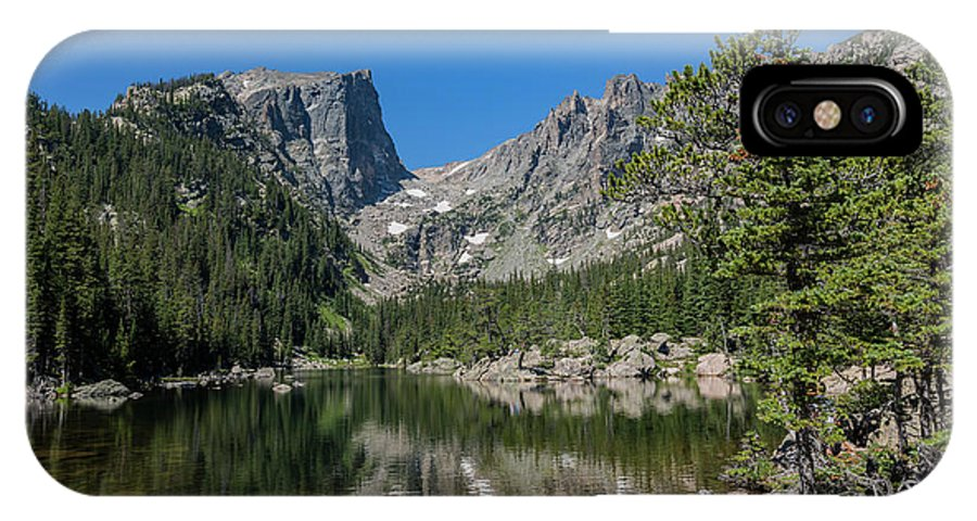 Colorado IPhone X Case featuring the photograph The Beautiful The Louch Lake With Reflection And Clear Water by Chon Kit Leong