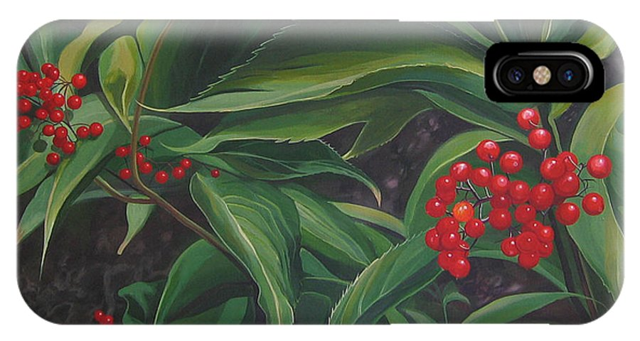 Berries IPhone X / XS Case featuring the painting The Berries On Guanella Pass by Hunter Jay