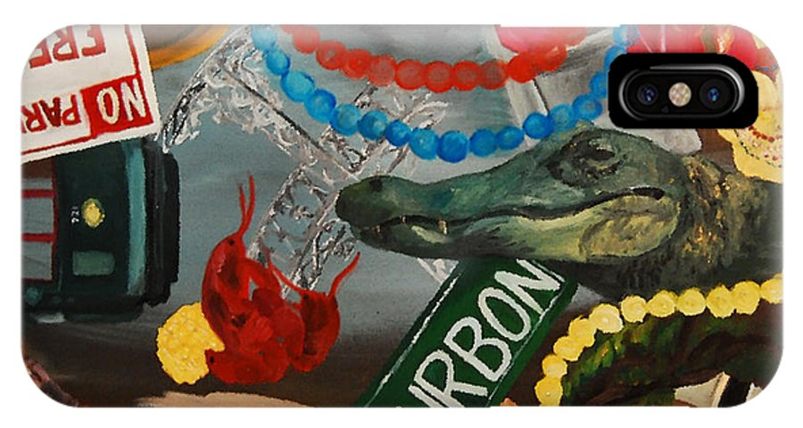 Louisiana IPhone X Case featuring the painting The Big Easy by Lauren Luna