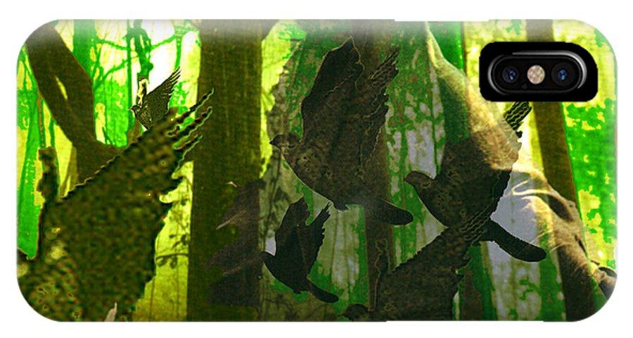 Birdwoman IPhone X Case featuring the digital art The Birdwoman by Seth Weaver