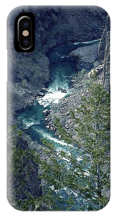 Canyon IPhone X Case featuring the painting The Black Canyon Of The Gunnison by RC DeWinter