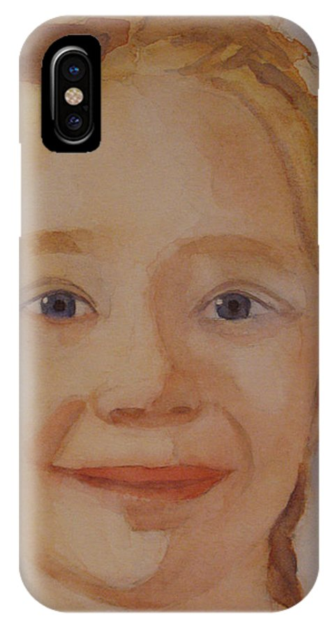 Partrait IPhone Case featuring the painting The Blue-eyed Duckling by Jenny Armitage