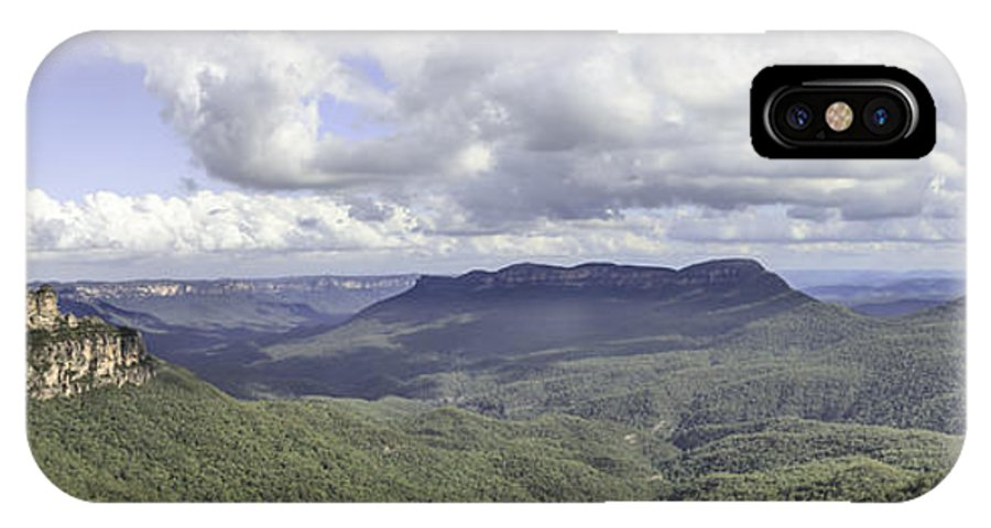 The Blue Mountains IPhone X Case featuring the photograph The Blue Mountains by Chris Cousins