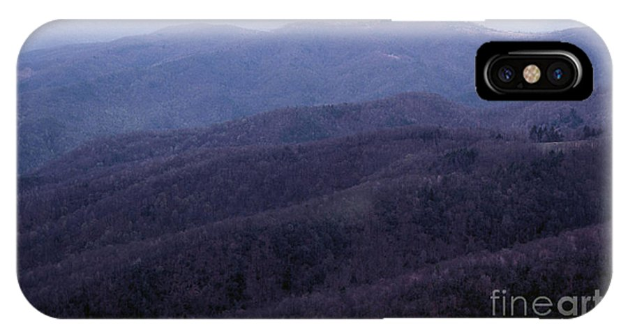 Mountains IPhone X Case featuring the photograph The Blue Ridge by Richard Rizzo
