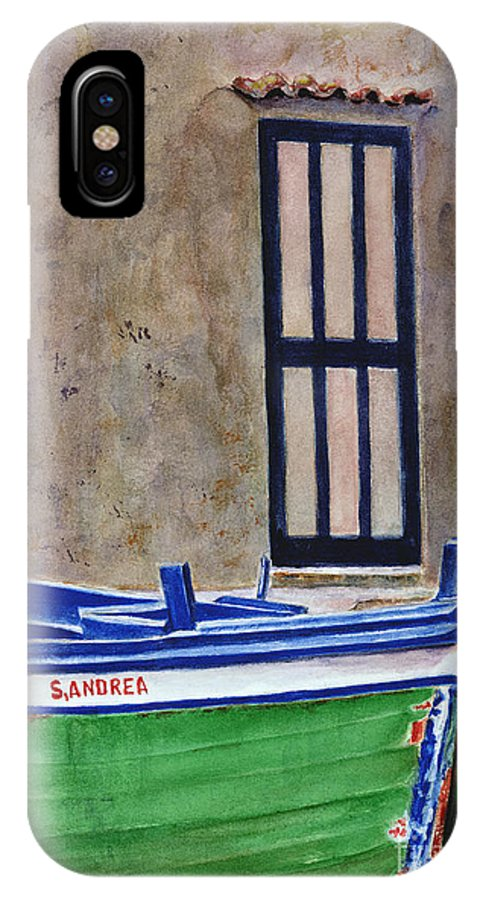 Boat IPhone Case featuring the painting The Boat by Karen Fleschler