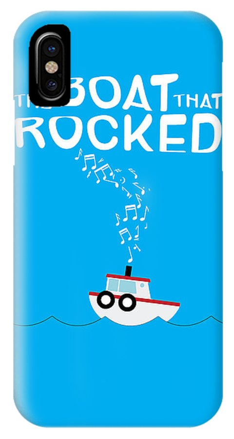 Poster IPhone X Case featuring the digital art The Boat That Rocked Poster by Onur KURT