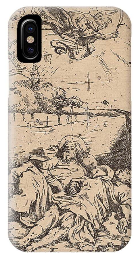 IPhone X Case featuring the drawing The Bodies Of Saints Peter And Paul by Claude Vignon