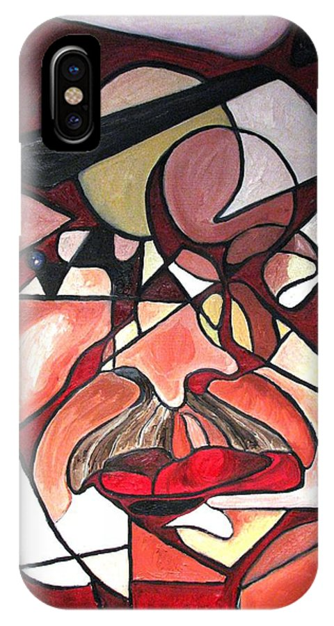 Abstract IPhone Case featuring the painting The Brain Surgeon by Patricia Arroyo