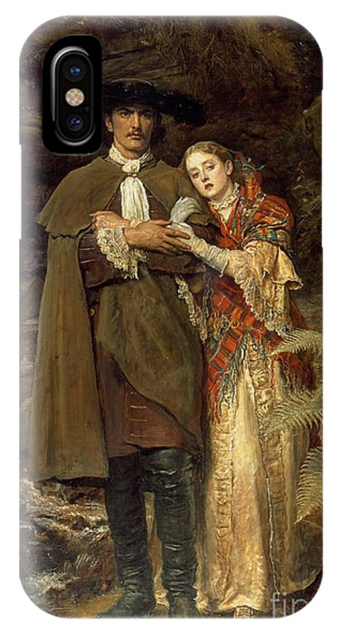 The IPhone X Case featuring the painting The Bride Of Lammermoor by Sir John Everett Millais