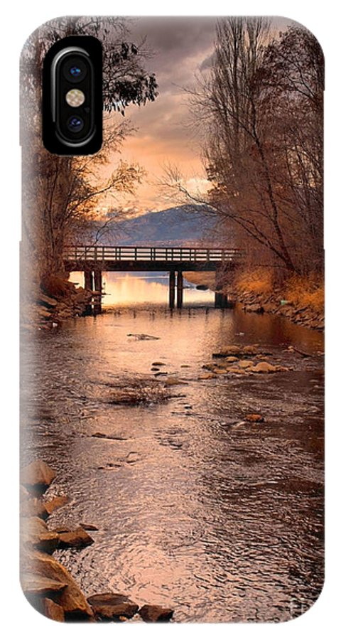 Bridge IPhone X Case featuring the photograph The Bridge By The Lake by Tara Turner